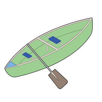 Illustration of canoe kayak