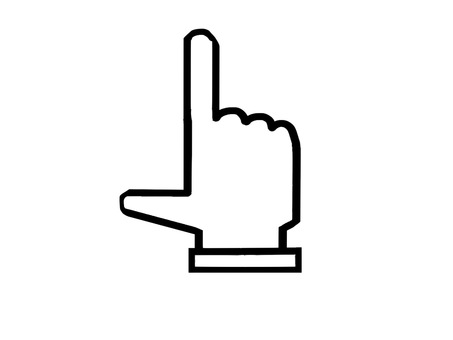 Pointing hand icon