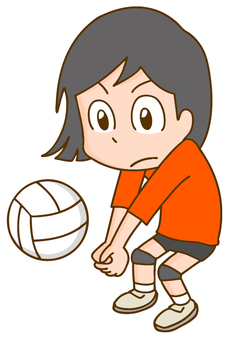Volleyball player woman