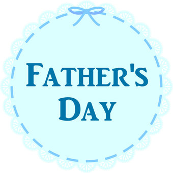 Lace ribbon frame Father's Day