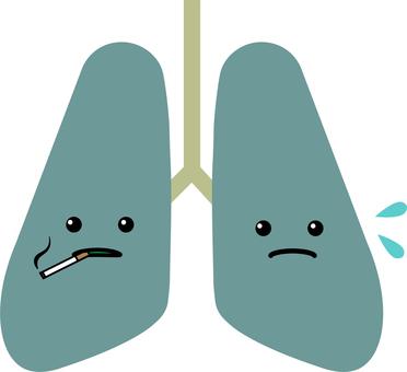 Face pneumonia cigarette