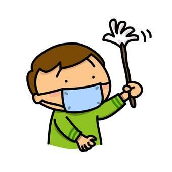 A boy to clean up: Hatake