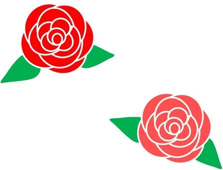 Simple rose flower 1