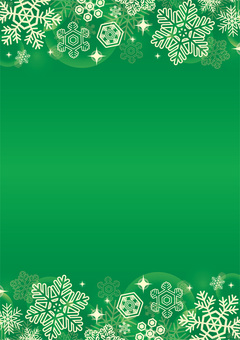 Christmas snow background green vertical position