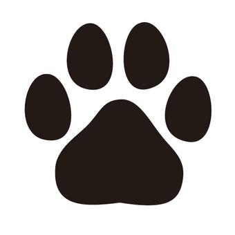 犬の足跡シルエット