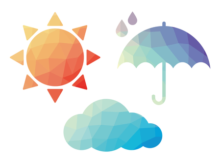 Polygon style weather icon