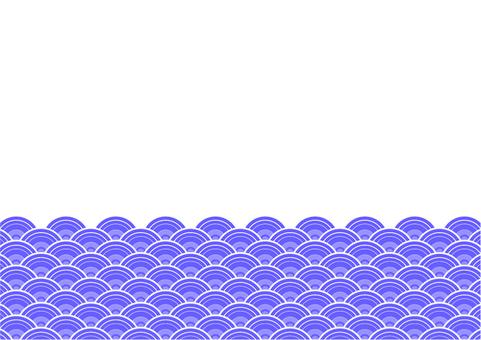 Japanese style wave frame -1
