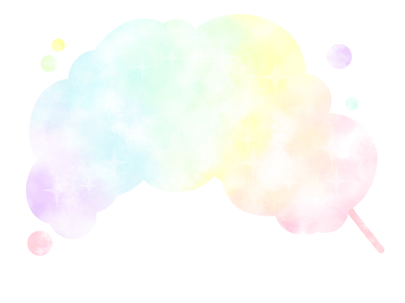 Rainbow-colored cotton candy