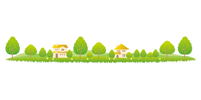 Living with green trees
