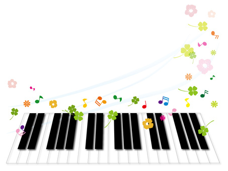 Piano keyboard frame 1