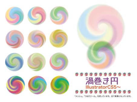 Swirl circle