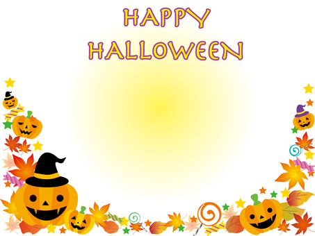 Halloween frame text included