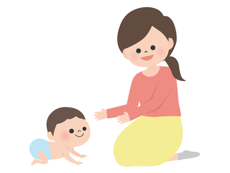 People material <parent and child, baby and mother>