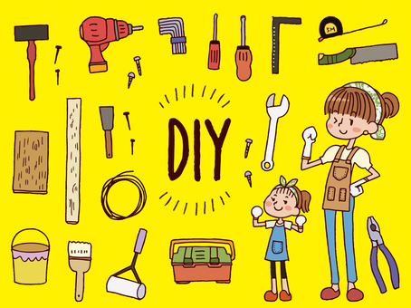 DIY tool set and parent and child