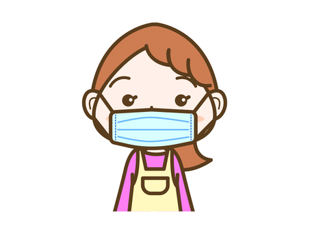 Female facial expression mask