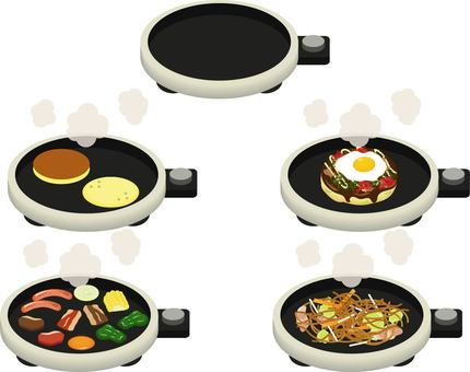 Hot plate set