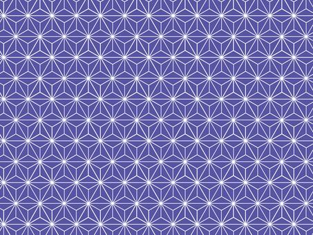 Hemp leaf pattern simple