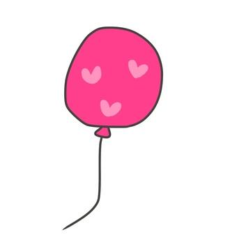Heart pattern balloon