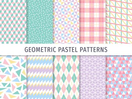 Simple geometric pattern (pastel)
