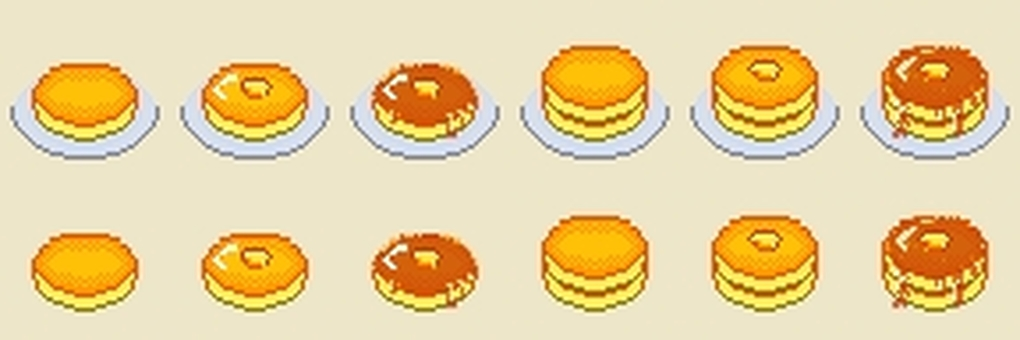 Dot picture hot cake