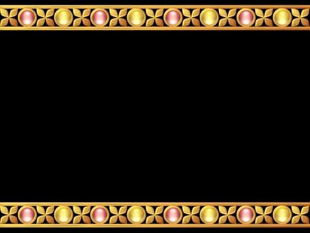 황금의 꽃과 유리 라인