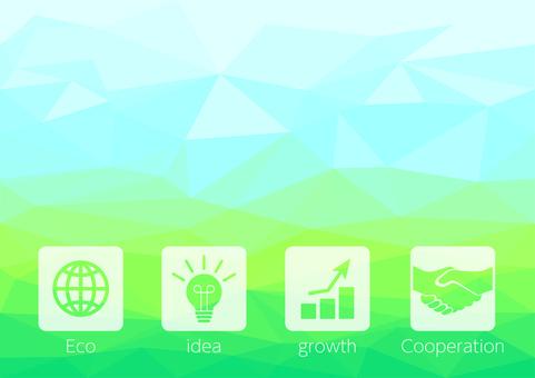 綠色數字業務矢量背景材料