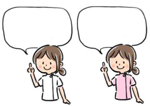 Woman explaining