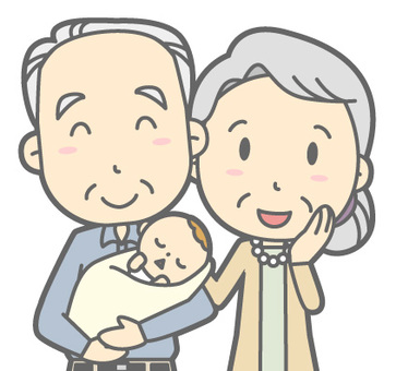 Elderly couple - Newborns - Bust