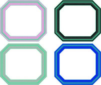 Octagonal frame set