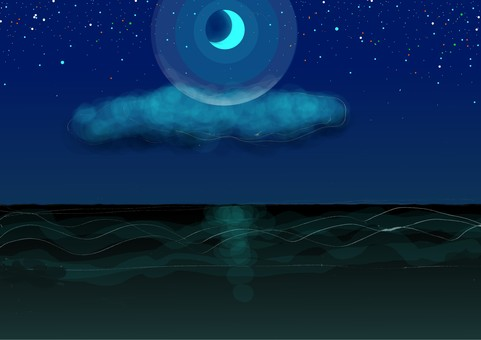 The seas and clouds of the night