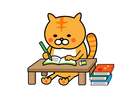 Cats studying
