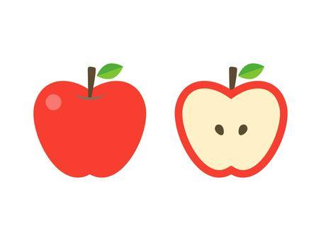 シンプルなリンゴ