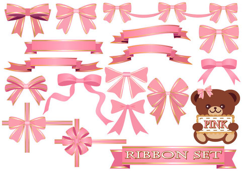 Ribbon set (pink)