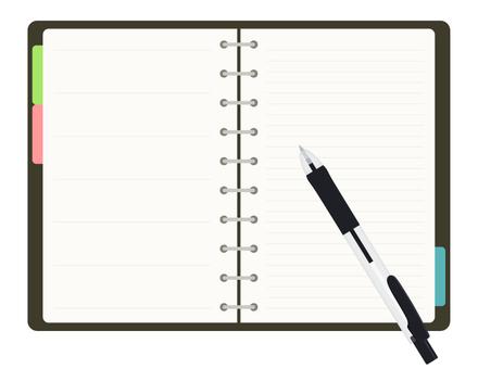 Pocketbook _ ballpoint pen black