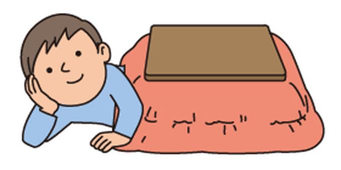 Male to sleep with a kotatsu