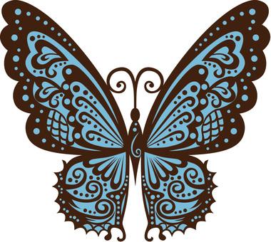 蝴蝶(淺藍色)