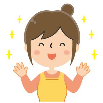 Cute housewife illustration / Banzai