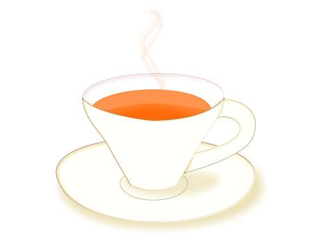 Black tea Simple tea cup