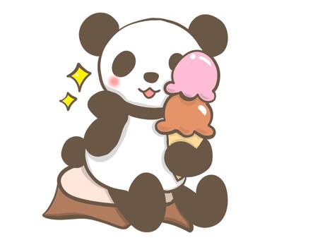熊貓與冰淇淋