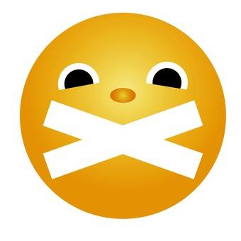 Emoticon forbidden to talk