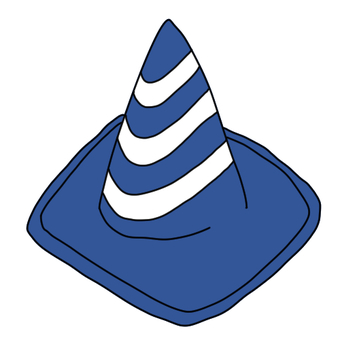 Striped triangle cones