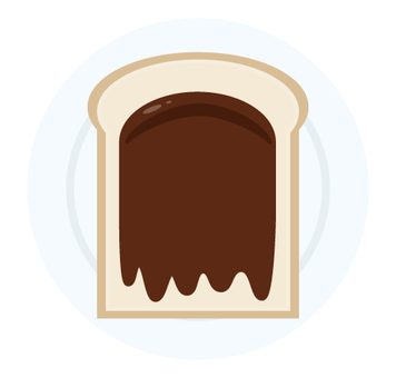 Breakfast chocolate bread