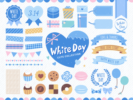 White Day Frame and Sweets Set