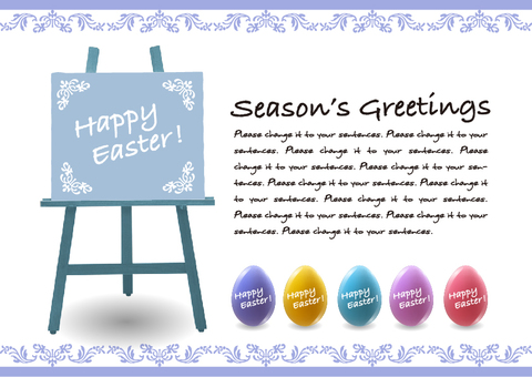 Easter easel message card A