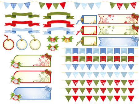 Assortment of Christmas labels