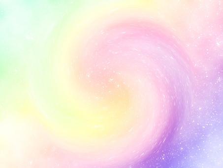Rainbow color swirl