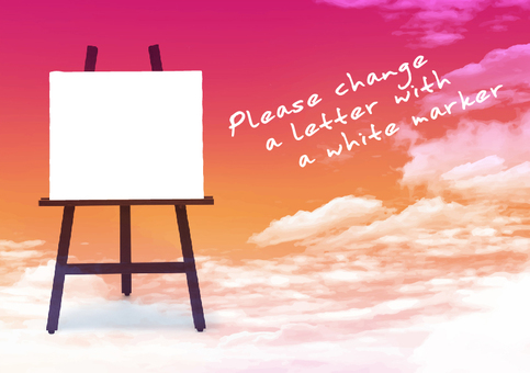 Easel message card sky 3 sunset