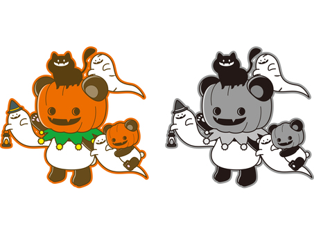 Panda illustration _ Halloween _ 03