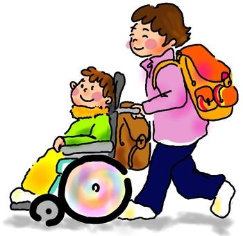 Wheelchair walk winter
