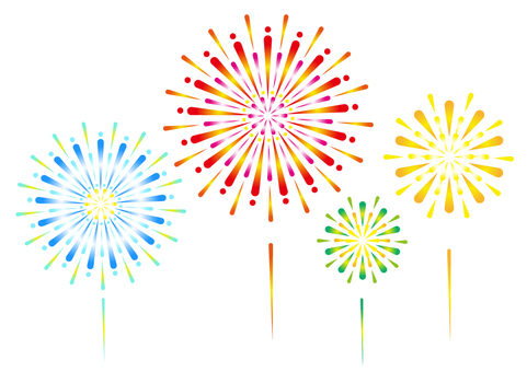 Fireworks background white